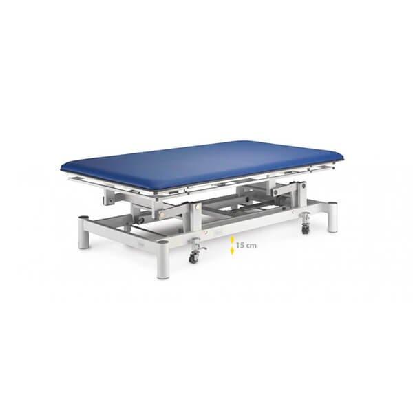 Table électrique Bobath Ferrox 200 x 200 Pro avec dossier vérin à gaz