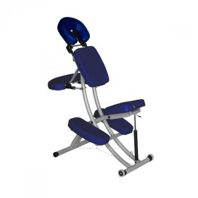 CHAISE DE MASSAGE RÉGLABLE BLEUE