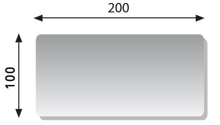 Table fixe bobath ferrox tiepolo 200 x 100 x 50 cm promokine for Miroir 100 x 80